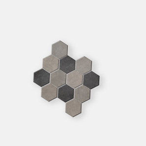 Belgium Stone Hexagon Mosaic Dark Mix