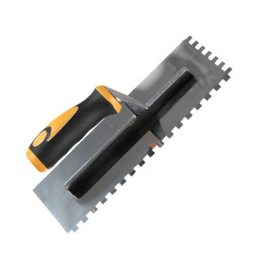 * Square Notched Multi Grip 8mm Stainless Steel Trowel