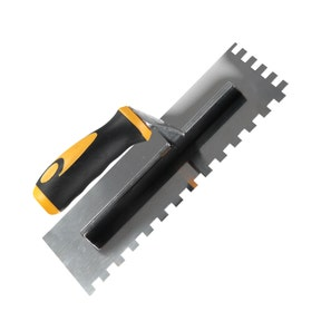 Square Notched Multi Grip Trowel 10mm Stainless Steel