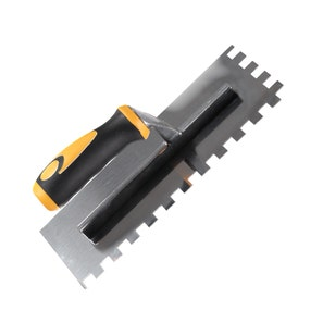 * Square Notched Multi Grip 12mm Stainless Steel Trowel