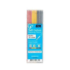 Ox Tuff Carbon Basic Colour & Graphite Lead (10pk)