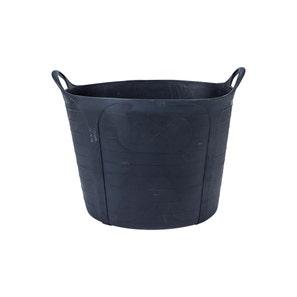 Ox Pro Heavy Duty Rubber Bucket 40l Black