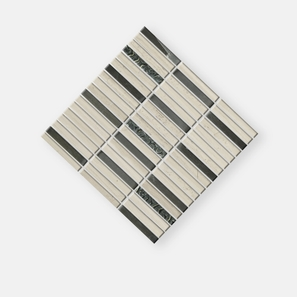 Lead Glass Stainless Steel Mix Mosaic Tile