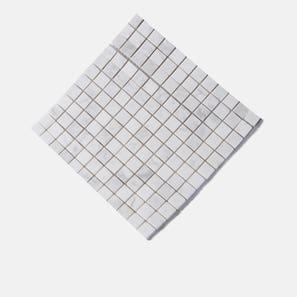 White Cloud Marble Honed Mosaic Tile