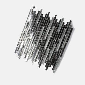 Alloy Interlock Glass Steel Mix Mosaic Tile