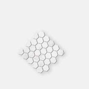 Hexagon White Marble Mosaic Tile