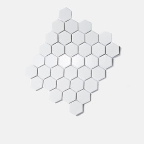 Honeycomb Large White Gloss Mosaic Tile