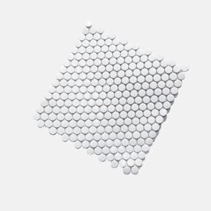 Penny Round White Gloss Tile
