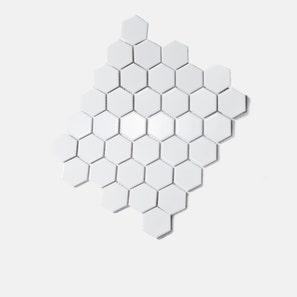 Honeycomb Large White Matt Mosaic Tile