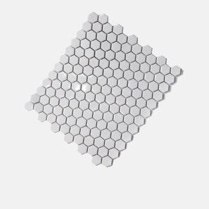 Honeycomb White Gloss Mosaic Tile