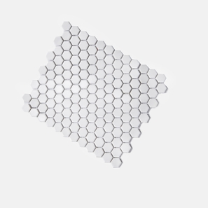 Honeycomb White Matt Mosaic