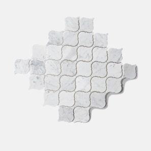 Carrara Marble Lantern Mosaic Tile
