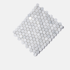 Carrara Marble White Hexagon Polished Mosaic