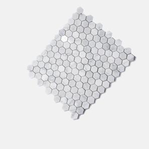 Carrara Marble White Hexagon Polished Mosaic Tile