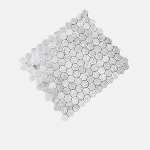 Carrara Marble White Hexagon Honed Mosaic Tile