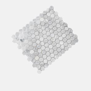 Carrara Marble White Hexagon Honed Mosaic