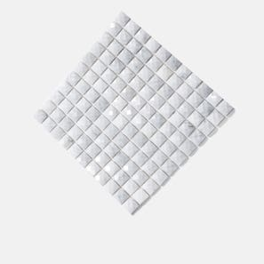 Carrara Marble Diamond Square Mosaic Tile