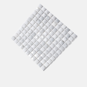 Carrara Marble Diamond Square Mosaic
