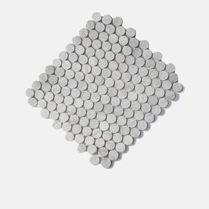 Thala Grey Penny Round Honed Mosaic Tile