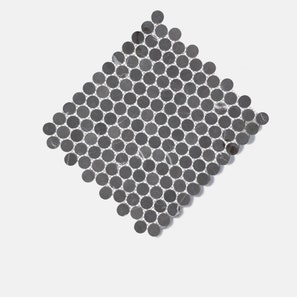 Pietra Grey Penny Round Honed Mosaic Tile