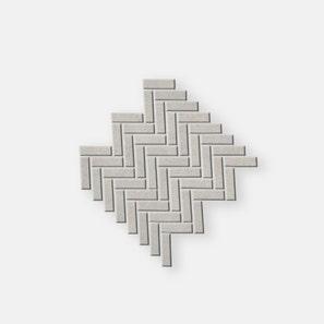 Pietra Lavica Glacier Herringbone Mosaic Tile