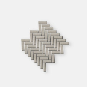 Pietra Lavica Flint Herringbone Mosaic Tile