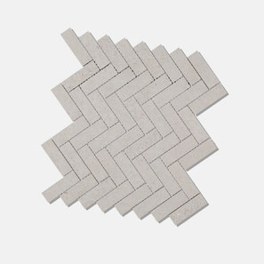 Pietra Lavica Pumice Herringbone Mosaic Tile