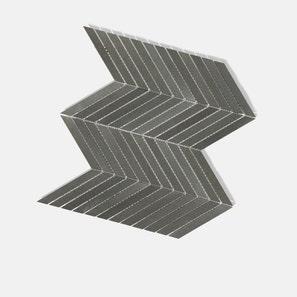 Basalt Slim Chevrons Mosaic Tile