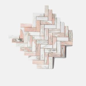 Blush Herringbone Honed Mosaic Tile