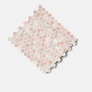 Penny Round Blush Honed Mosaic