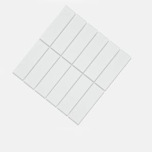 Helsinki White Matt Glazed 45x145 Mosaic Tile