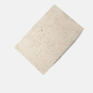 Travertine Natural Blend Bullnose Paver Tumbled Drop Edge
